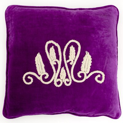 Global Throw Pillow Color: Plum