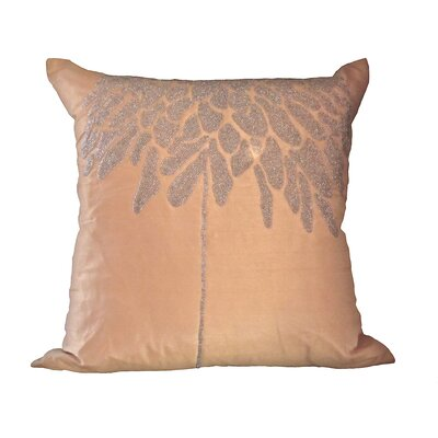 Bling Coral Tree Throw Pillow Color: Champagne