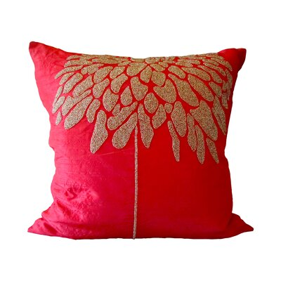 Bling Coral Tree Throw Pillow Color: Red