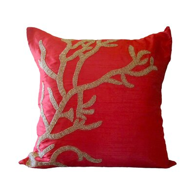 Bling Reef Throw Pillow Color: Red