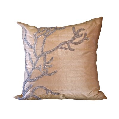 Bling Reef Throw Pillow Color: Champagne