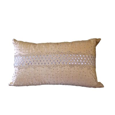 Bling Crystal Diamond Throw Pillow Color: Champagne