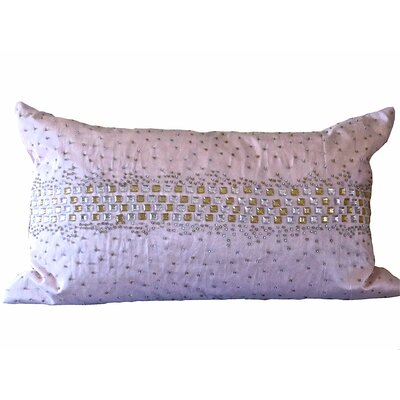 Bling Crystal Diamond Throw Pillow Color: Light Pink