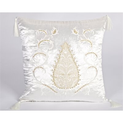 Tudor Climbing Acorn Velvet Throw Pillow Color: White