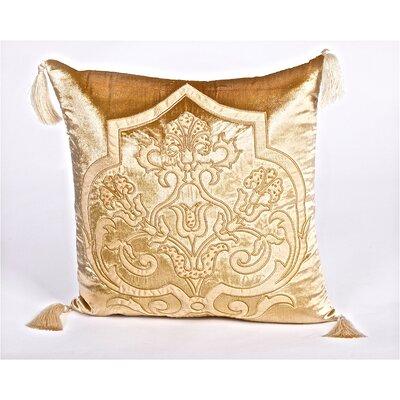 Debage Inc. Tudor Velvet Throw Pillow - Color: Light Gold