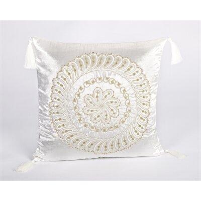 Tudor Velvet Throw Pillow Color: White