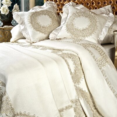 Lace Wreath 6 Piece Duvet Cover Set Size: King