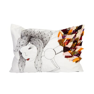 Sea Side Woman Lumbar Pillow
