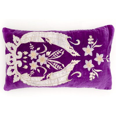Plush Lumbar Pillow Color: Plum