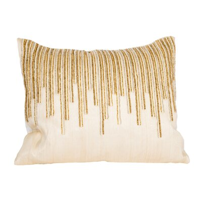Beaded Top Natural/Organic Lumbar Pillow