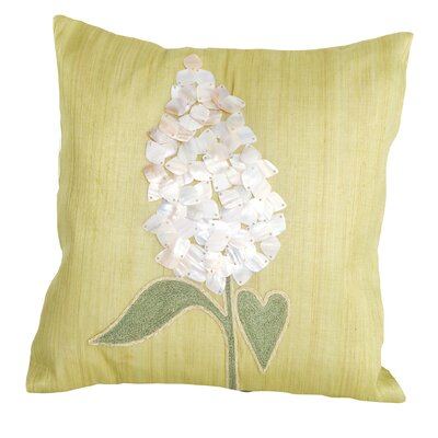 Sea Side Shell Flower Natural/Organic Throw Pillow