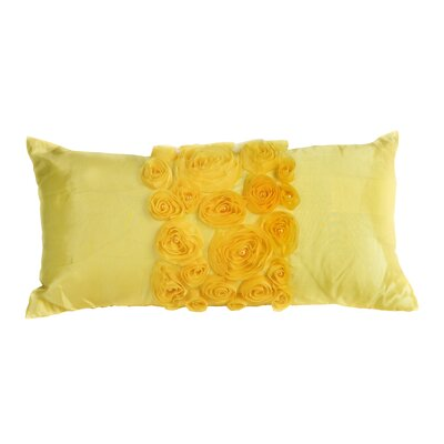 Spring Flower Lumbar Pillow Color: Yellow