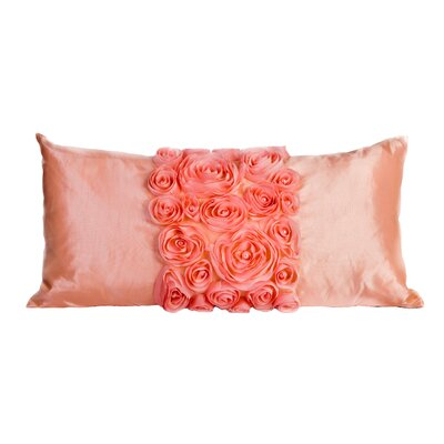 Spring Flower Lumbar Pillow Color: Pink