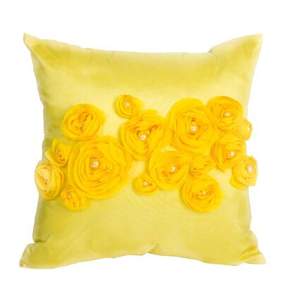 Spring Flower Throw Pillow Color: Yellow