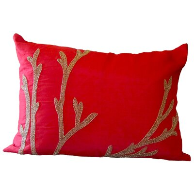 Bling Reef Lumbar Pillow Color: Red