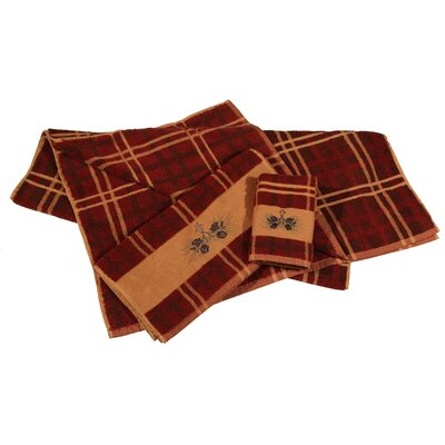 Carlisle Plaid 3 Piece Towel Set