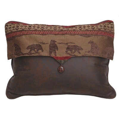 Cascade Lodge Bear Envelop Lumbar Pillow