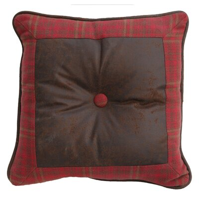 Cascade Lodge Faux Leather Throw Pillow