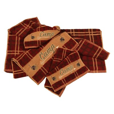 Camp Embroidered Plaid 3 Piece Towel Set