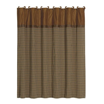 Furiani Polyester Houndstooth Shower Curtain