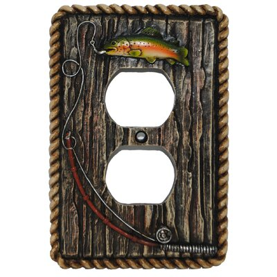 Rainbow Trout Single Outlet Cover (Set of 4)