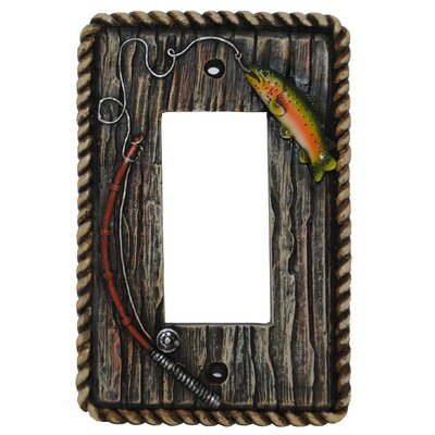 Rainbow Trout Single Rocker Plate (Set of 4)