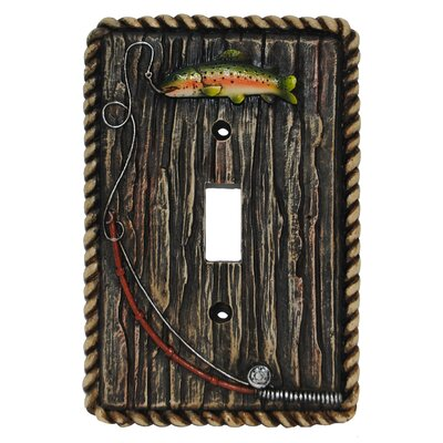 Rainbow Trout Single Switch Plate (Set of 4)