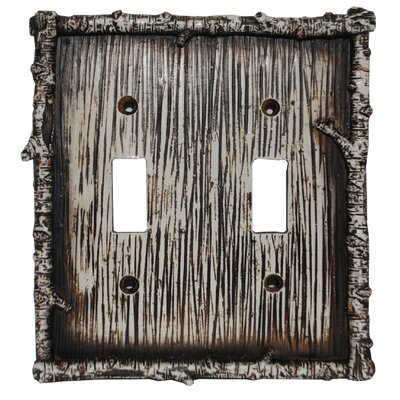 Birch Twig Double Switch Plate (Set of 4)