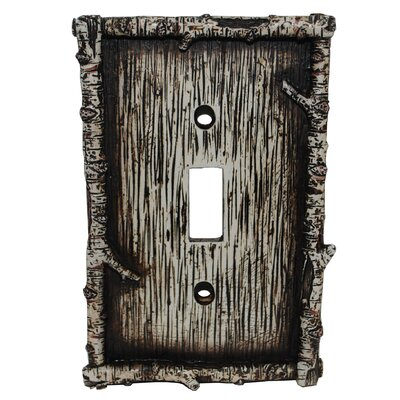 Birch Twig Single Switch Plate (Set of 4)