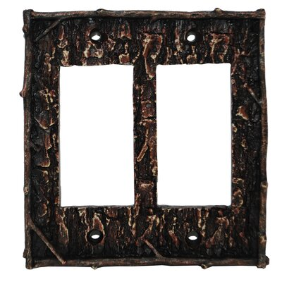 Pine Bark Double Rocker Plate (Set of 4)