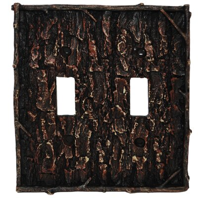 Pine Bark Double Switch Plate (Set of 4)