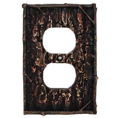 Pine Bark Single Outlet Cover (Set of 4)