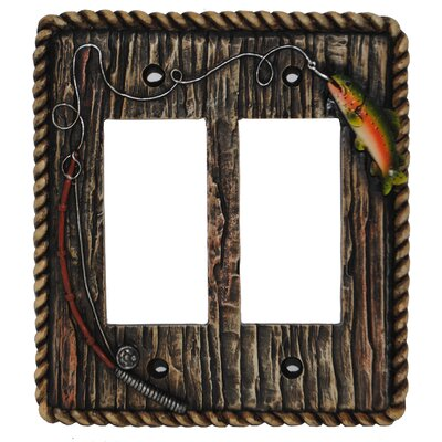 Rainbow Trout Double Rocker Plate (Set of 4)