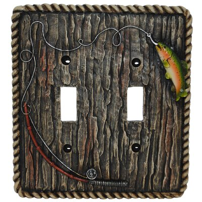 Rainbow Trout Double Switch Plate (Set of 4)