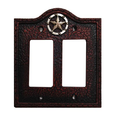 Leather Grain Double Rocker Switch Plate (Set of 4)
