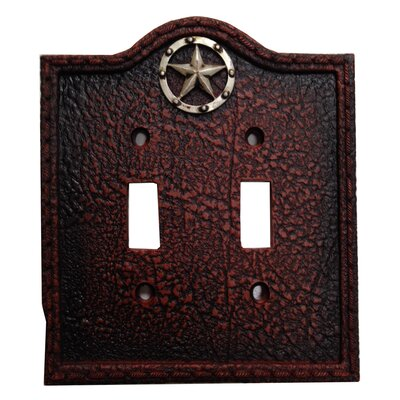 Leather Grain Double Switch Plate (Set of 4)
