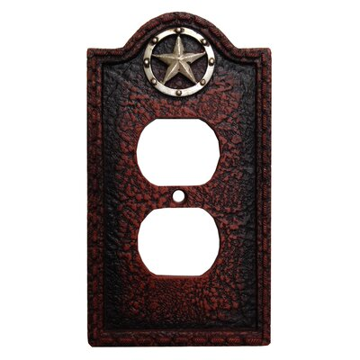 Leather Grain 2 Outlet Socket Plate (Set of 4)