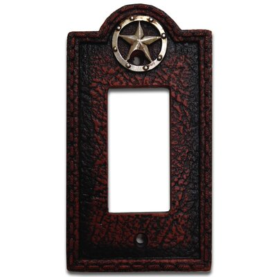Leather Grain Single Rocker Switch Plate (Set of 4)