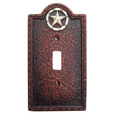 Leather Grain Single Switch Plate (Set of 4)