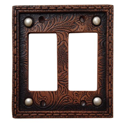 Tooled Resin Double Rocker Switch plate (Set of 4)