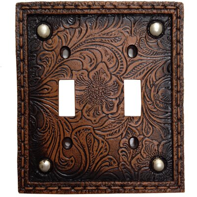 Tooled Resin Double Switch Plate (Set of 4)