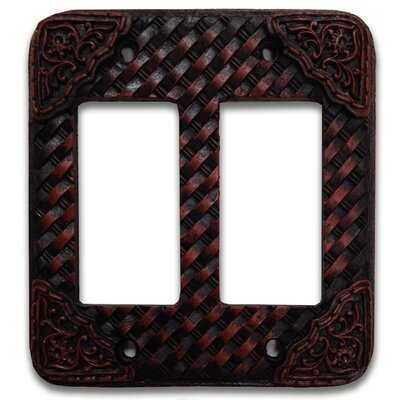 Tooled Resin Weaver Double Rocker Switch Plate (Set of 4)