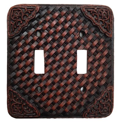 Tooled Resin Weaver Double Switch plate (Set of 4)