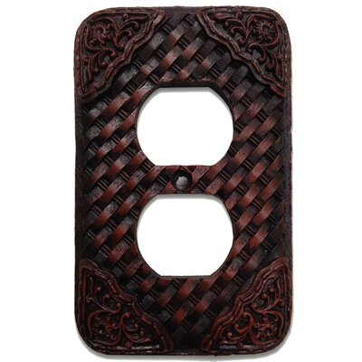 Tooled Resin Weaver 2 Outlet Cover (Set of 4)