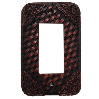 Tooled Resin Weaver Single Rocker Switch Plate (Set of 4)