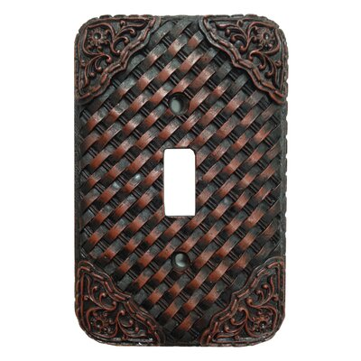 Tooled Resin Weaver Single Switch Plate (Set of 4)