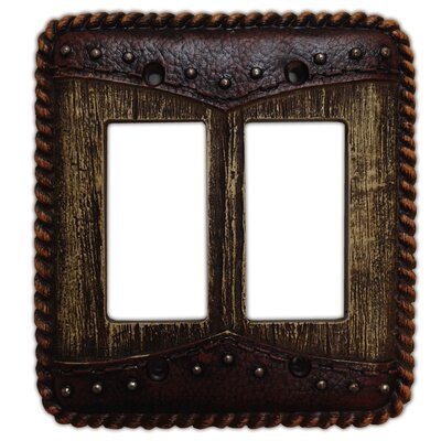 Woodgrain with Double Yoke Switch Plate (Set of 4)