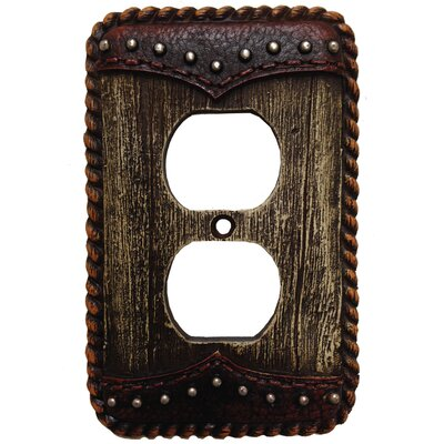 Woodgrain with Double Yoke Outlet Cover (Set of 4)