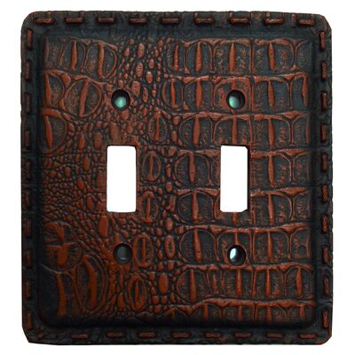 Resin Gator Double Switch Plate (Set of 4)