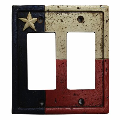 Texas Double Rocker Switch Plate Cover (Set of 4)